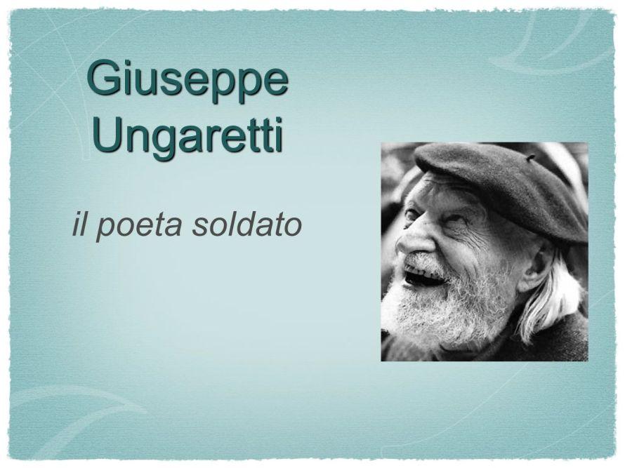 Giuseppe Ungaretti il poeta soldato
