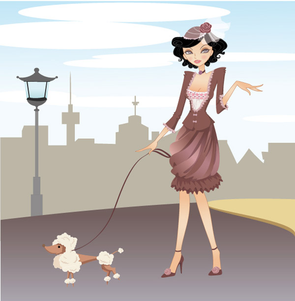 donna-con-cane-woman-with-dog
